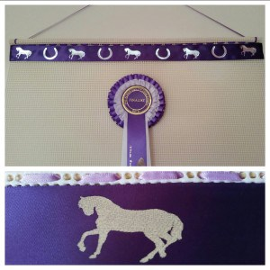 rosette holders, rosette holder, ideas for pony club rosettes, horse rosette display holder
