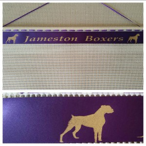 Dog breeds rosette holder, dog show ribbon hanger, boxer dog rosette holder