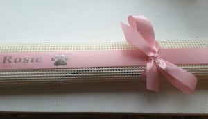 Rosette Holders , personalised gift ribbon for dog show rosette holders