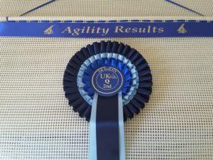 rosette holder, dog agility rosettes, dog agility shows, agilitynet,