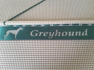 Greyhound Whippet Racing Rosettes, ideas for displaying whippet or greyhound rosettes,